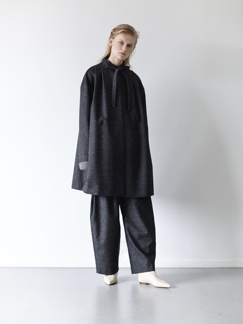 【ELIN】HEATHER TUCKED COAT