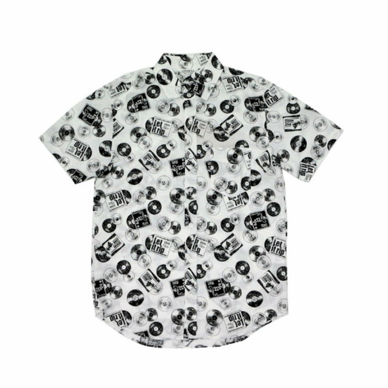 Vinyl Print S/S Shirts | レコード 総柄 プリント 半袖シャツ 【VINTAGE EL】