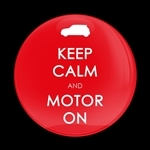 ゴーバッジ(ドーム)(CD0638 - KEEP CALM AND MOTOR ON RED) - 画像1