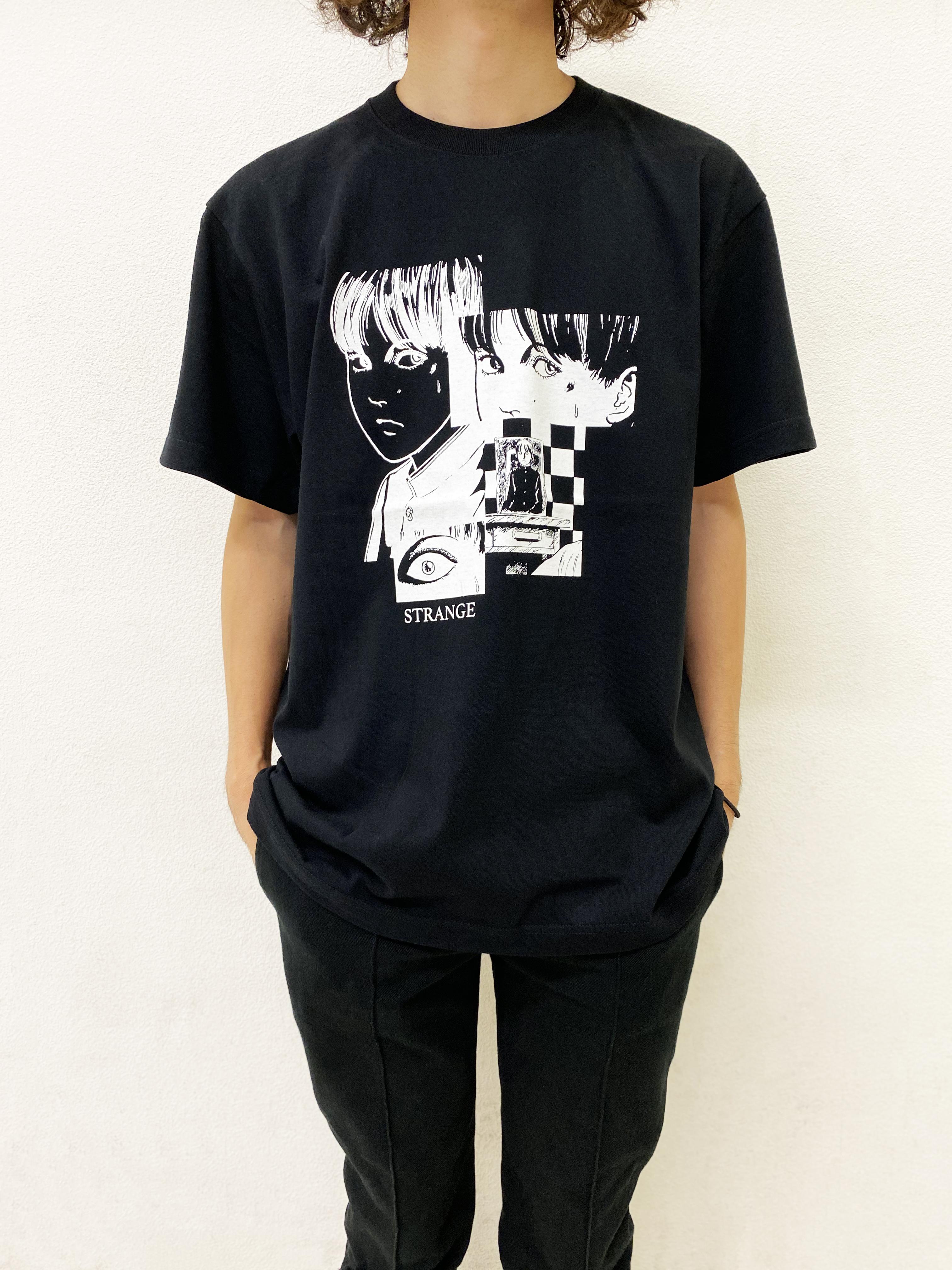 〈伊藤 潤二〉STRANGE Tシャツ(押切 トオル)