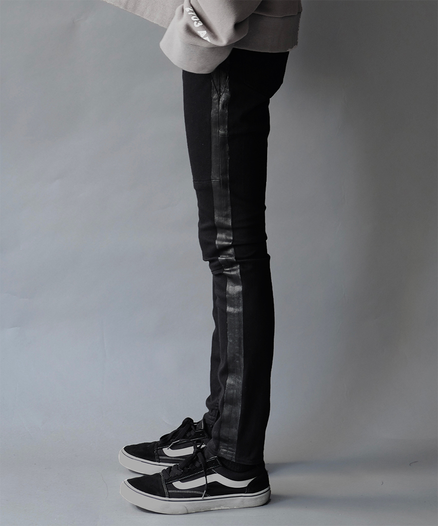 【WIZZARD】SIDE LINE SKINNY PANTS