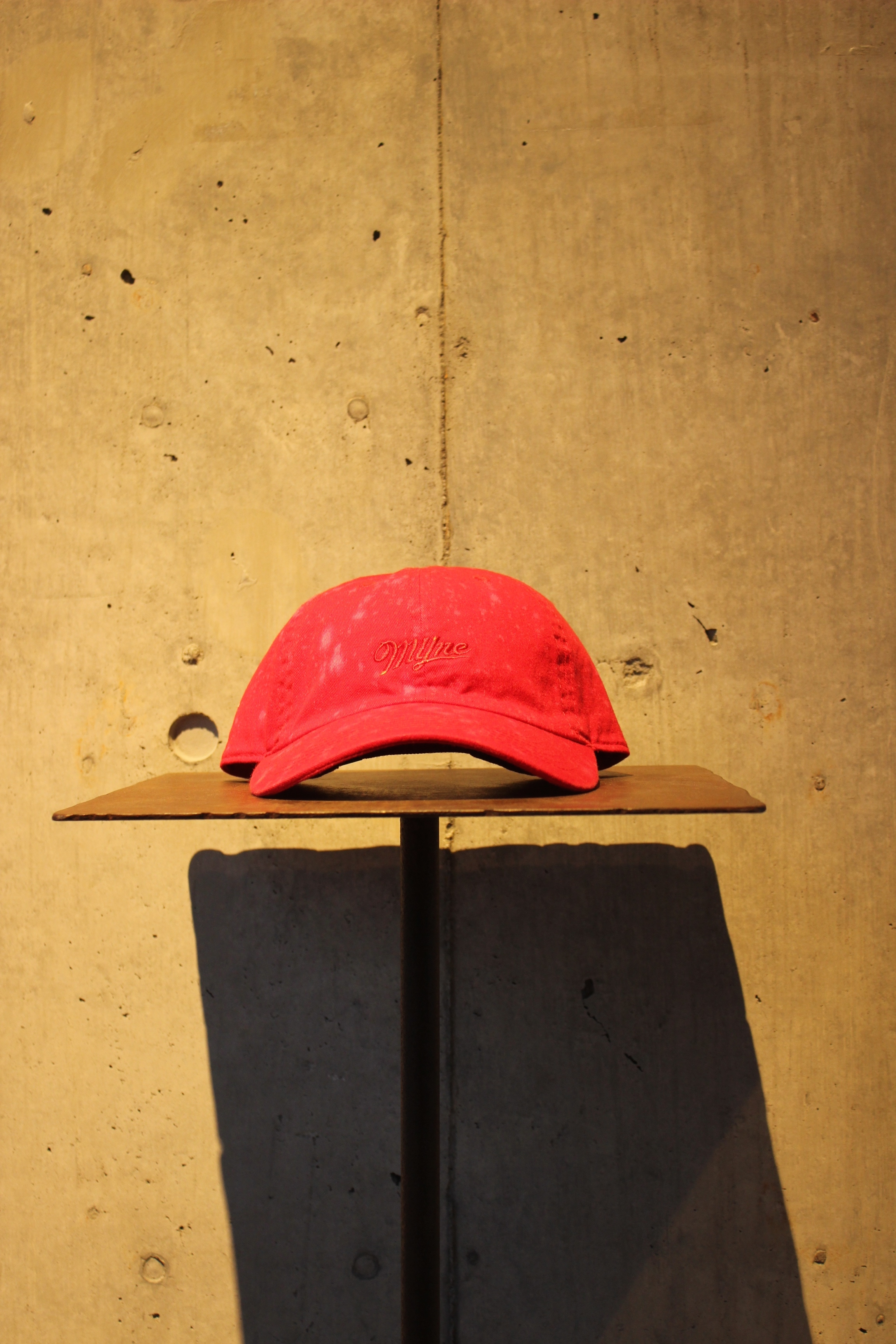 【50%OFF】bleached cap / RED - 画像1