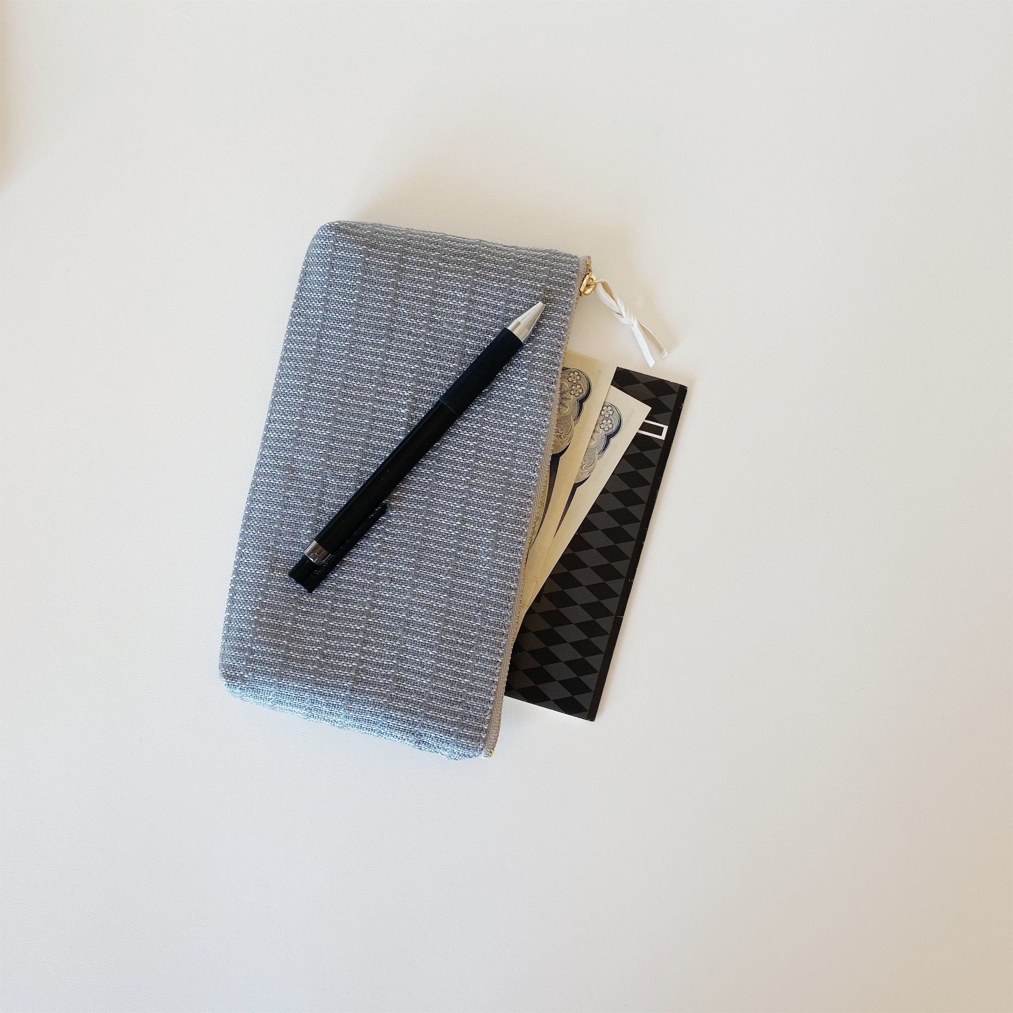 手織りロングケース(Long case Gray Alinea)