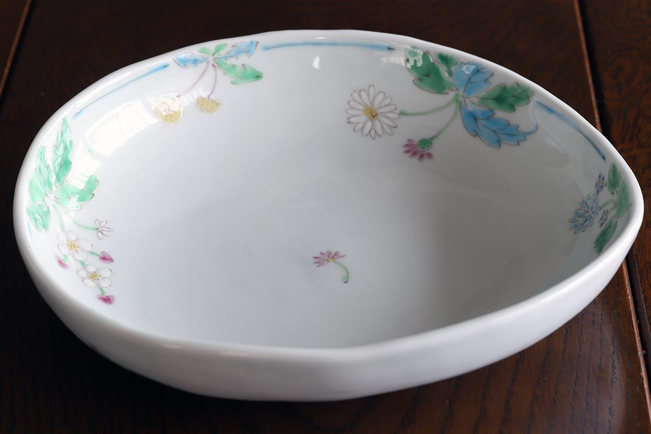 藍水 六ツ花 盛鉢 うつわ藍水(波佐見焼)