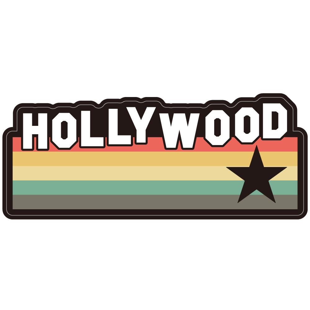 "155 70sなHOLLYWOOD STAR ""California Market Center"" アメリカンステッカー スーツケース シール"