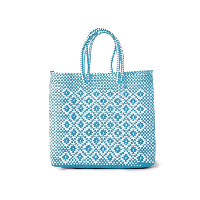 MERCADO BAG ROMBO - White x Light Blue(S)