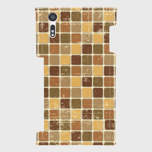 モザイクタイル(茶)/ Androidスマホケース(ハードケース)