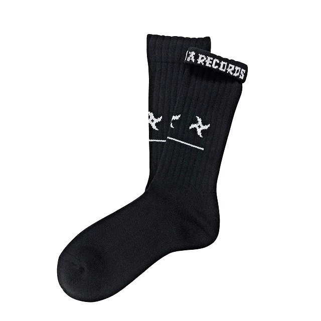 """""""手裏剣 -black-"""" Socks (limited edition by DIGITAL NINJA)"""