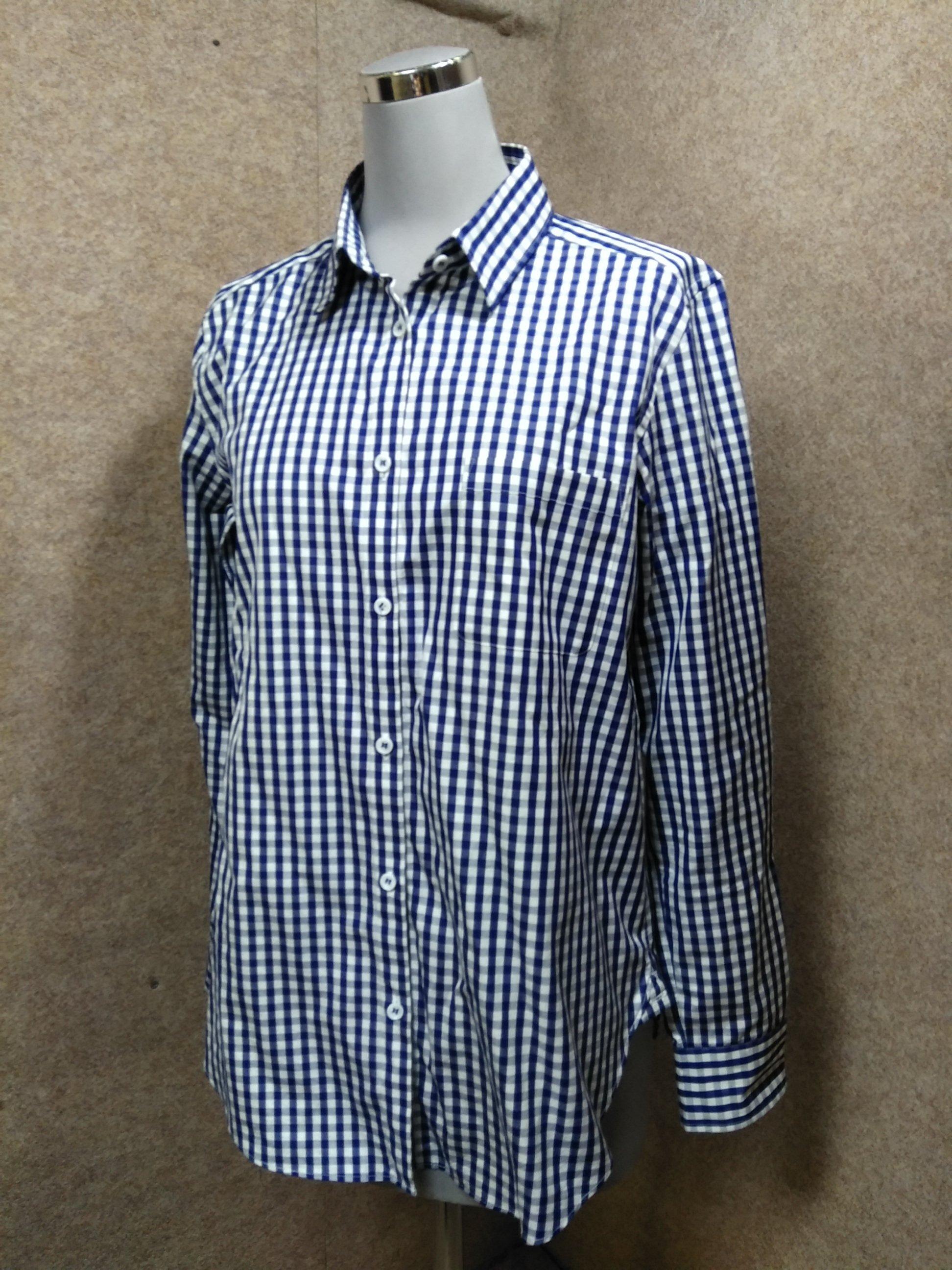 ANAYI アナイ レディースチェックシャツ 38 ネイビー系 my989c