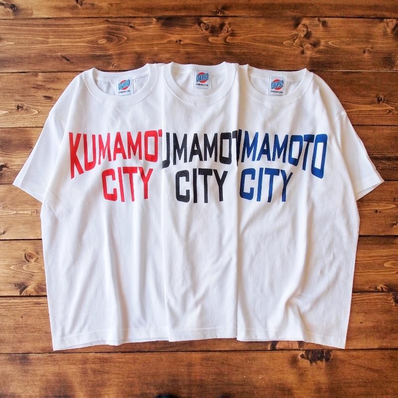 """【DARGO】""""KUMAMOTO CITY"""" T-shirt (WHITE 3色)"""