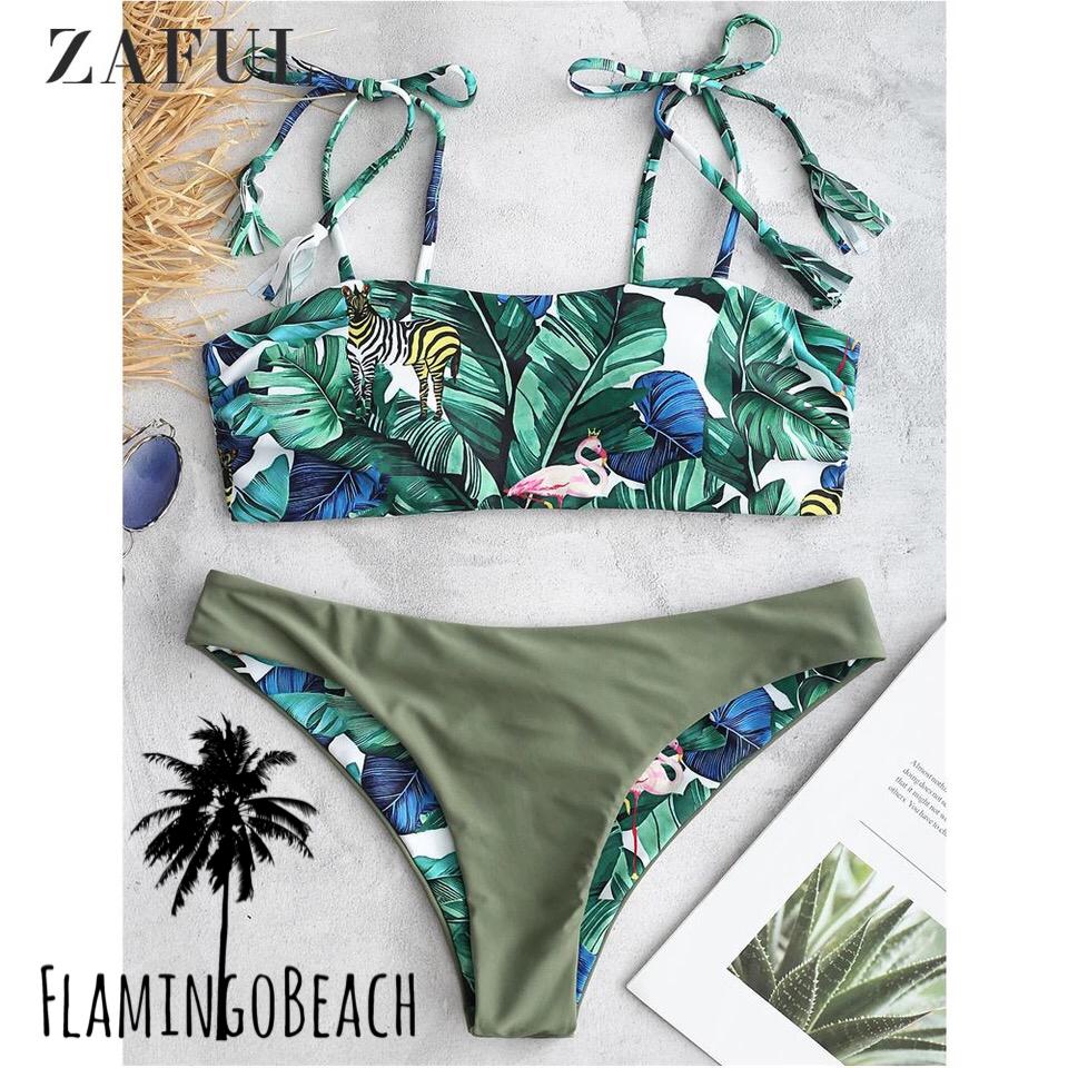 【FlamingoBeach】leaf flamingo bikini ビキニ