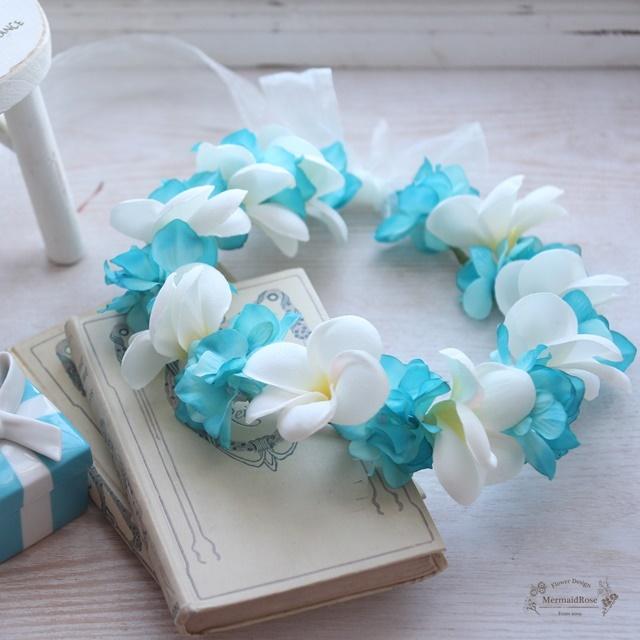 全25色花冠プルメリア&アジサイ(Tブルー)