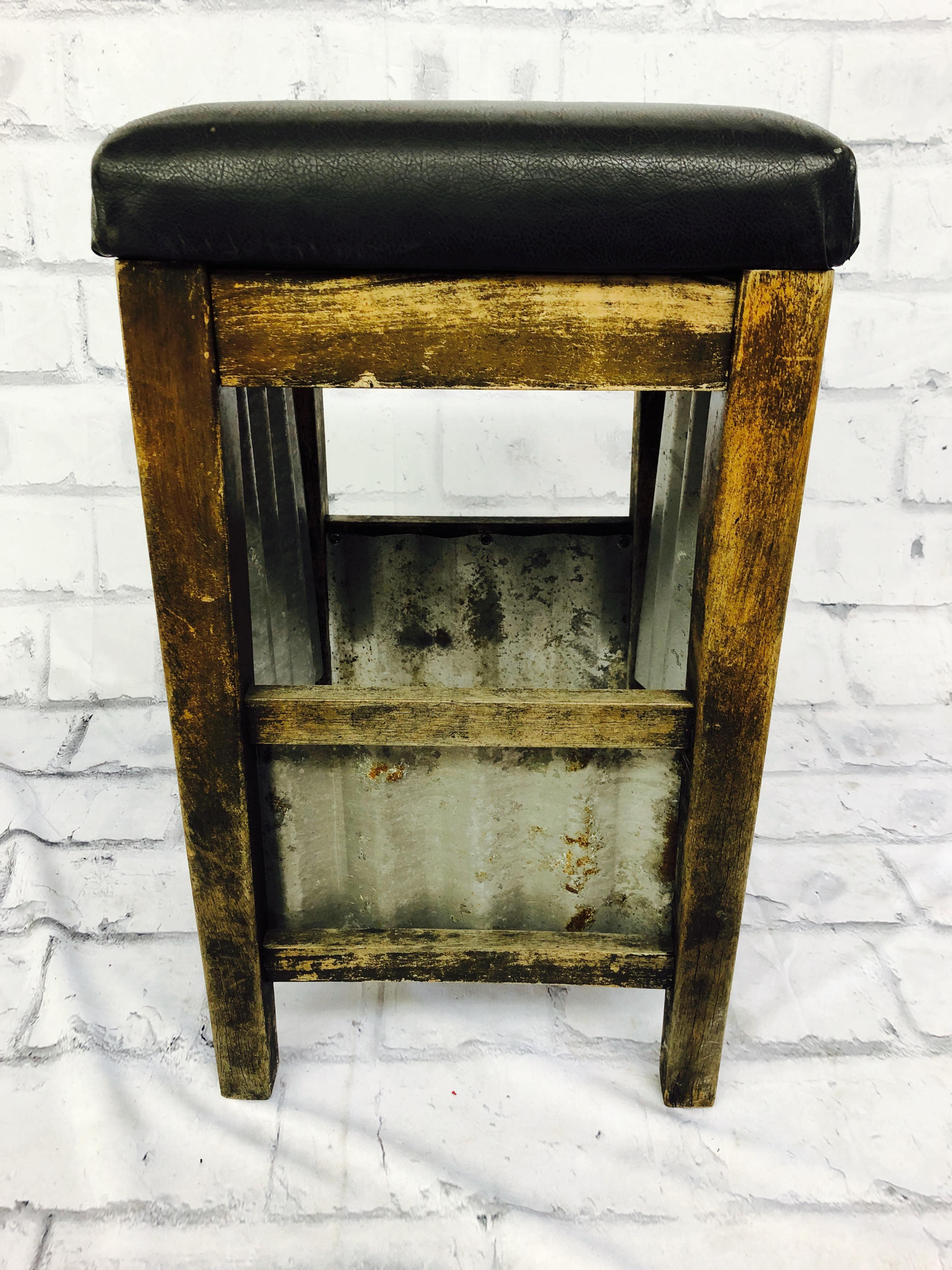 品番1416 創作 インダストリアルスツール チェア 椅子 ブラック インテリア ディスプレイ アンティーク