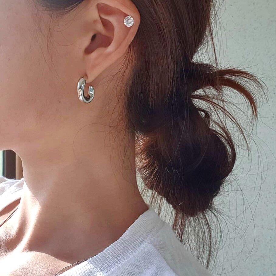 c curl pierce silver