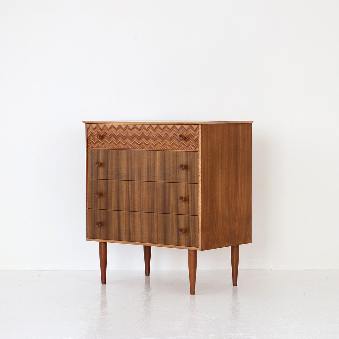 4Drawers chest / Peter Hayward for Uniflex Furniture
