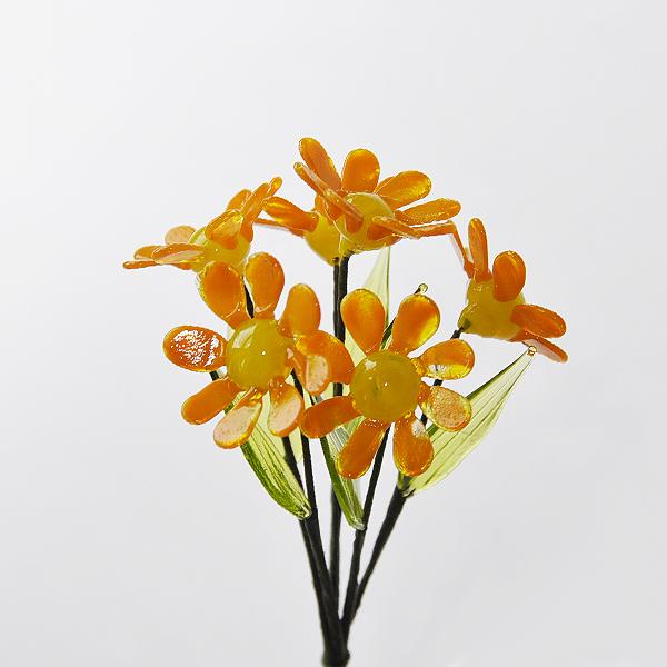 グラスフラワー デージー(オレンジ)単品