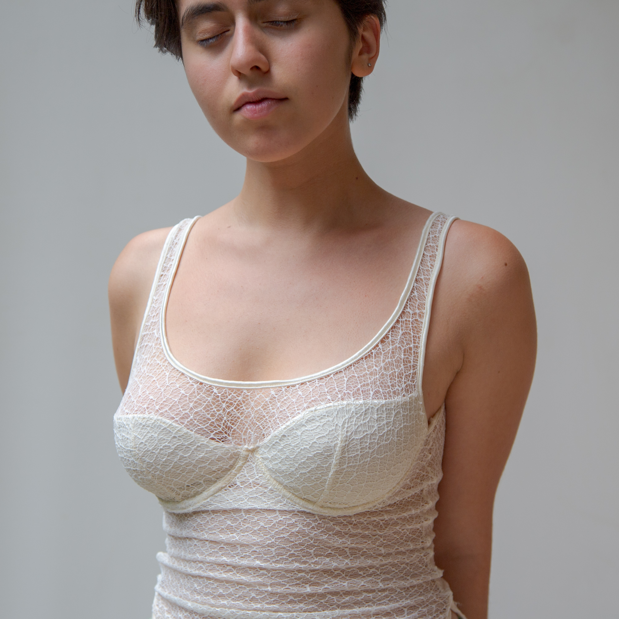 LaceMeshBustier