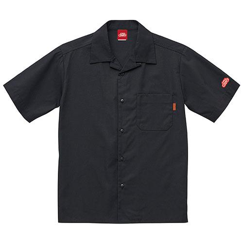 オープンカラーシャツ 半袖 / ブラック | SINE METU - シネメトゥ