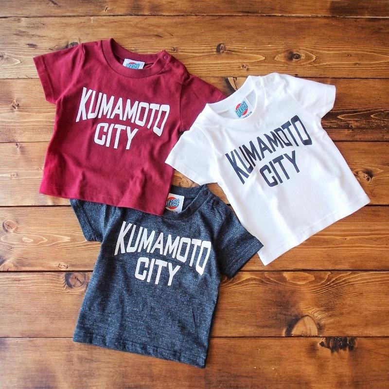 """【キッズ】【DARGO】""""KUMAMOTO CITY"""" T-shirt (3color)"""