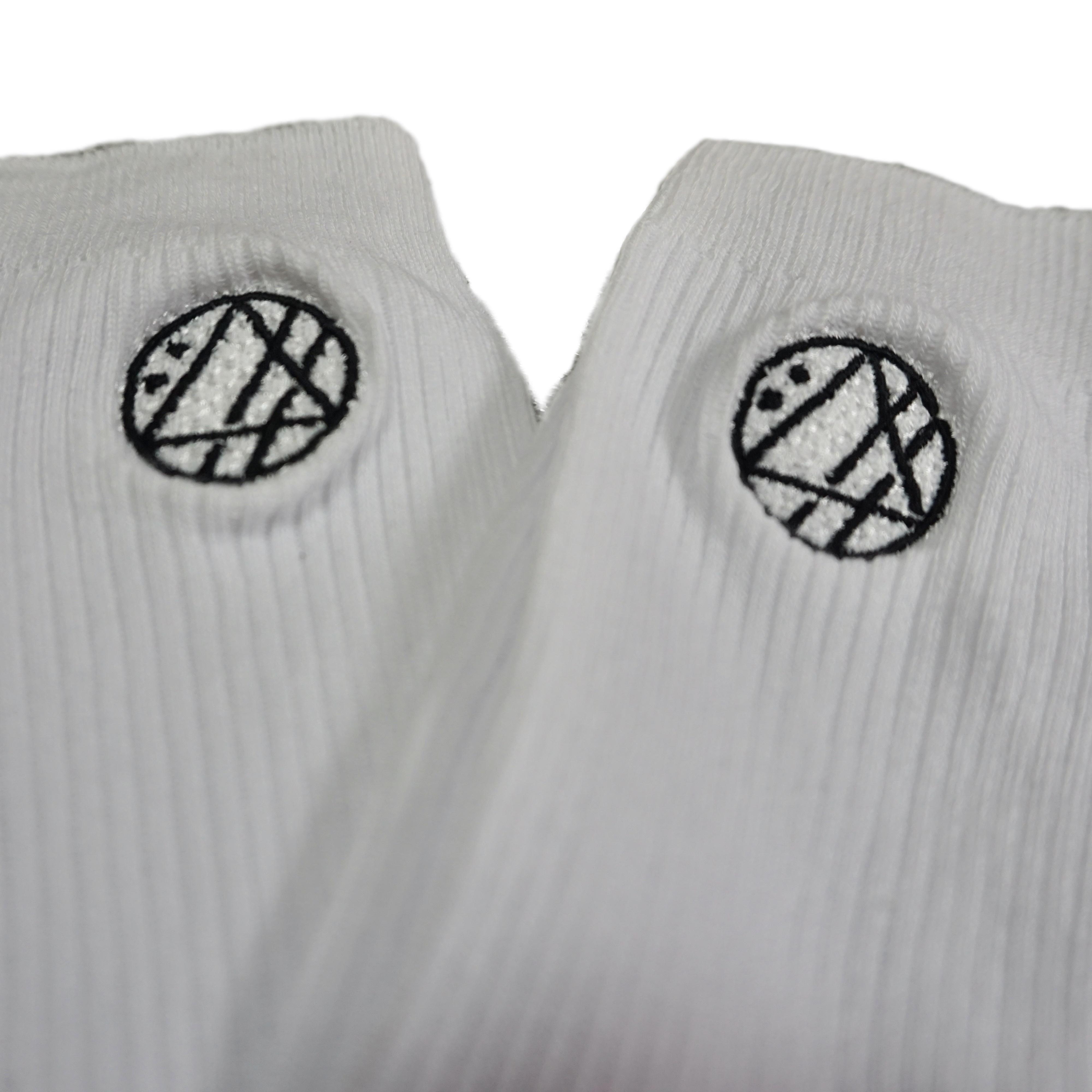 丸ロゴ刺繍ソックス (ホワイト) - 画像3