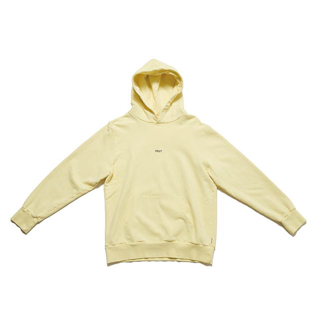 "SPICE COLOR HOODIE ""FRUIT"" - YELLOW"