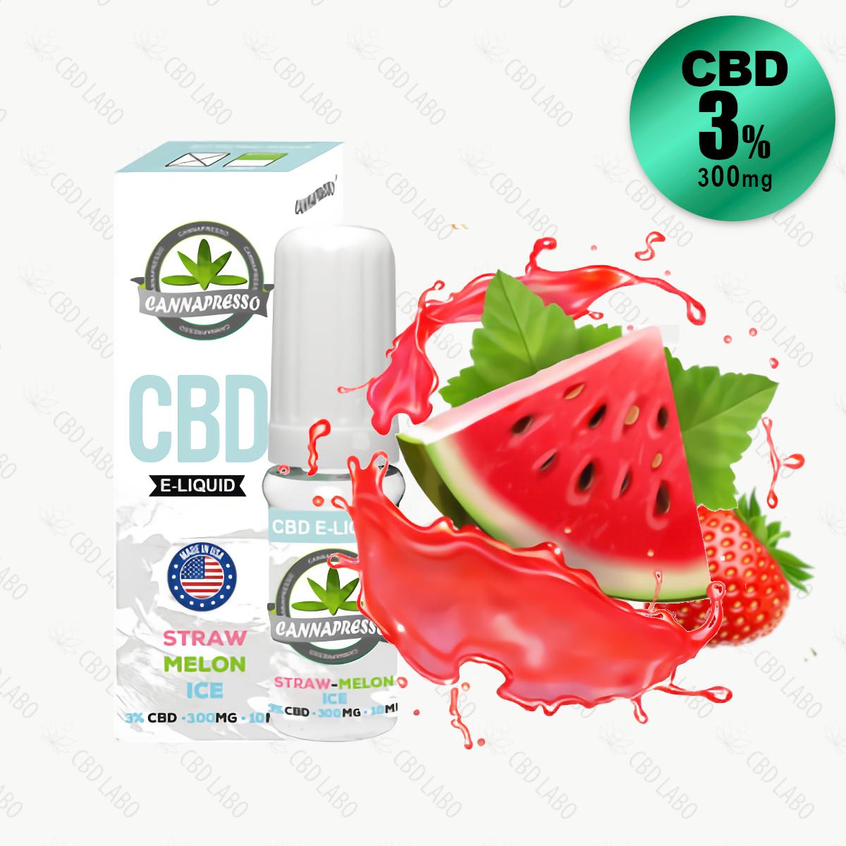 【送料無料】CANNAPRESSO CBDリキッド ストローメロンアイス 10ml CBD含有量300mg (3%)
