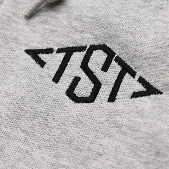 TST EMB ZIP PARKA #T.GREY