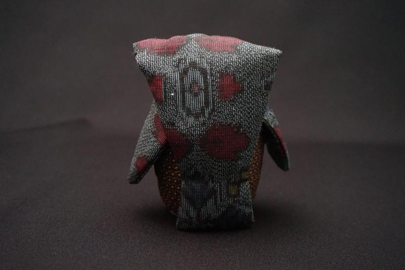 着物、和服の古布人形・縁起物「ふくろう」2 - 画像3