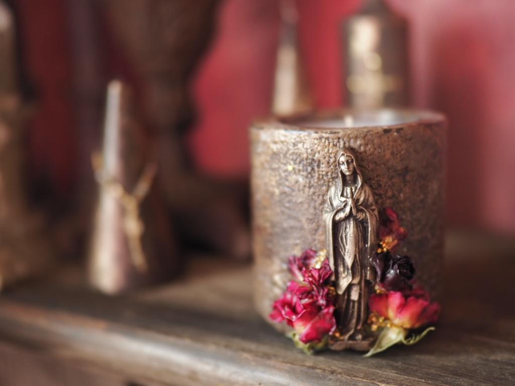 Vintage Maria Candle 6