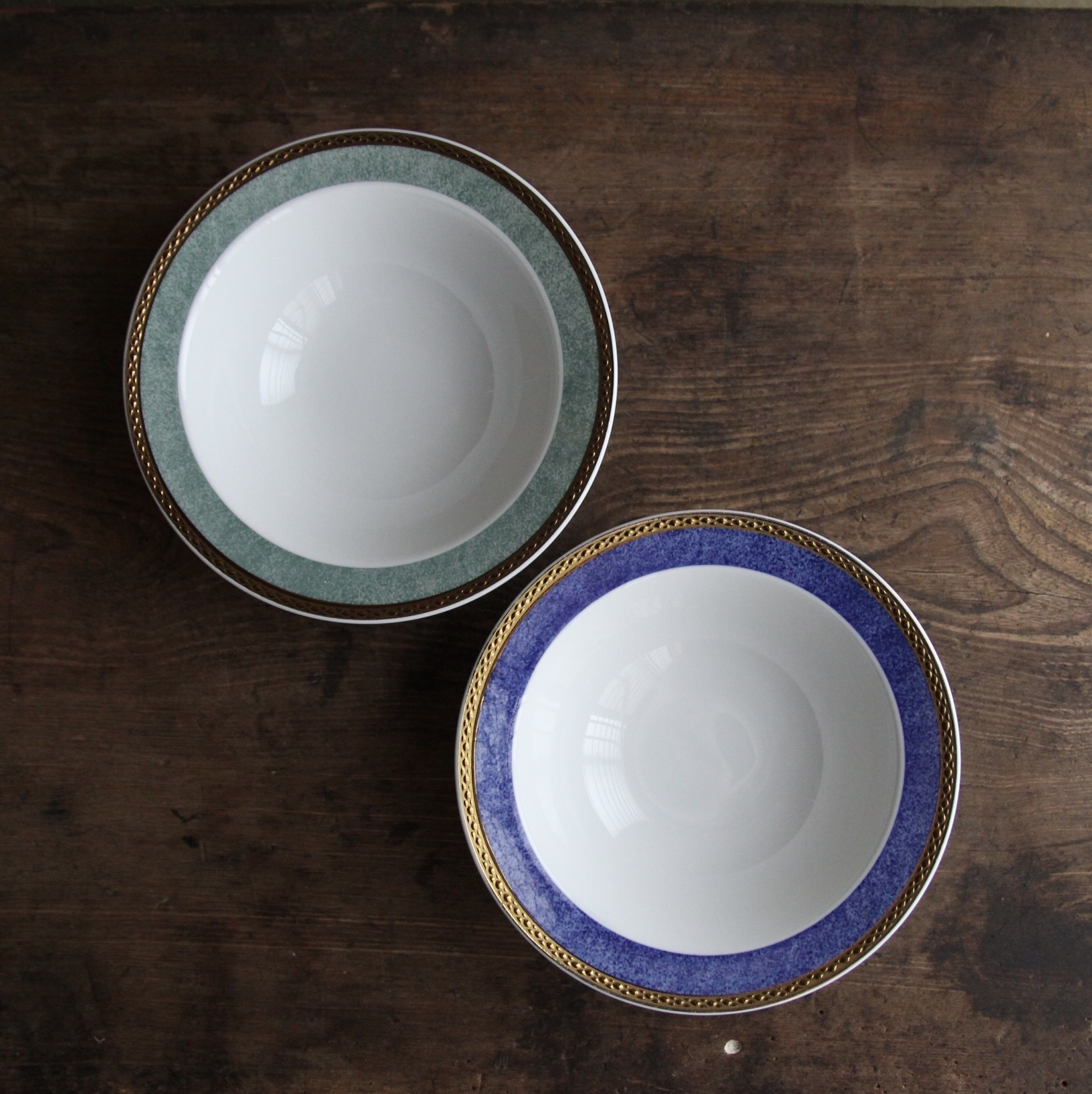 tono 金リムのスープ皿 2枚セット