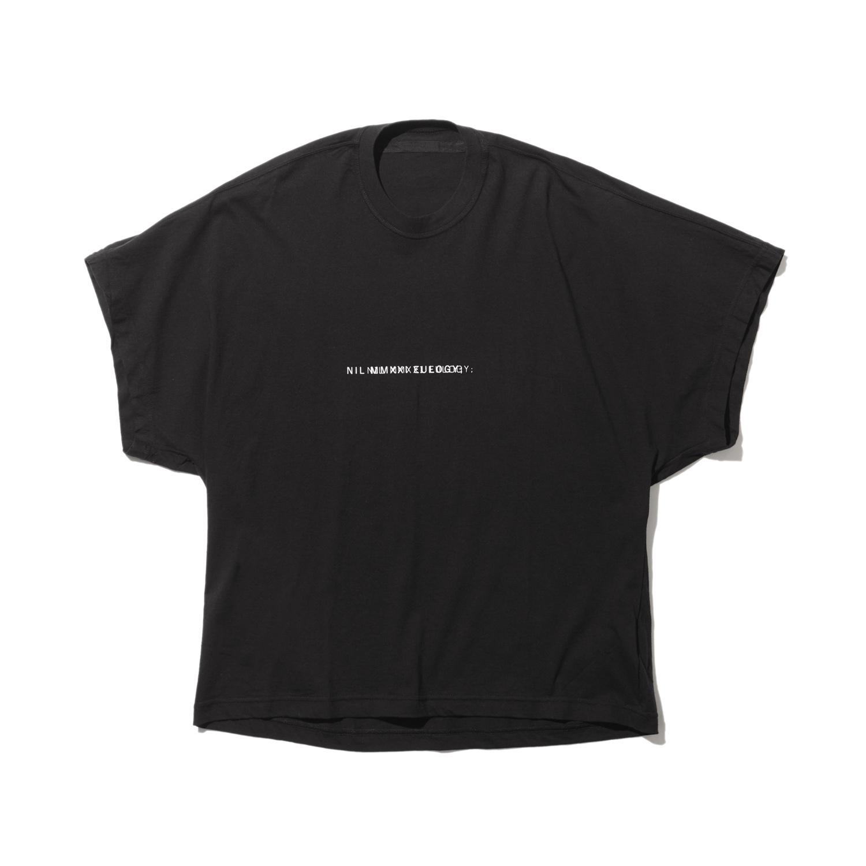 740CPM2-BLACK / NILøS プリント Tシャツ ver.2