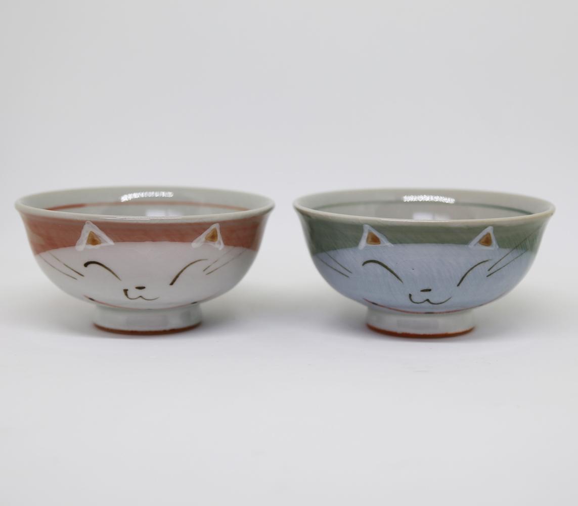 猫飯椀(瀬戸焼ニャンコ)全2種類