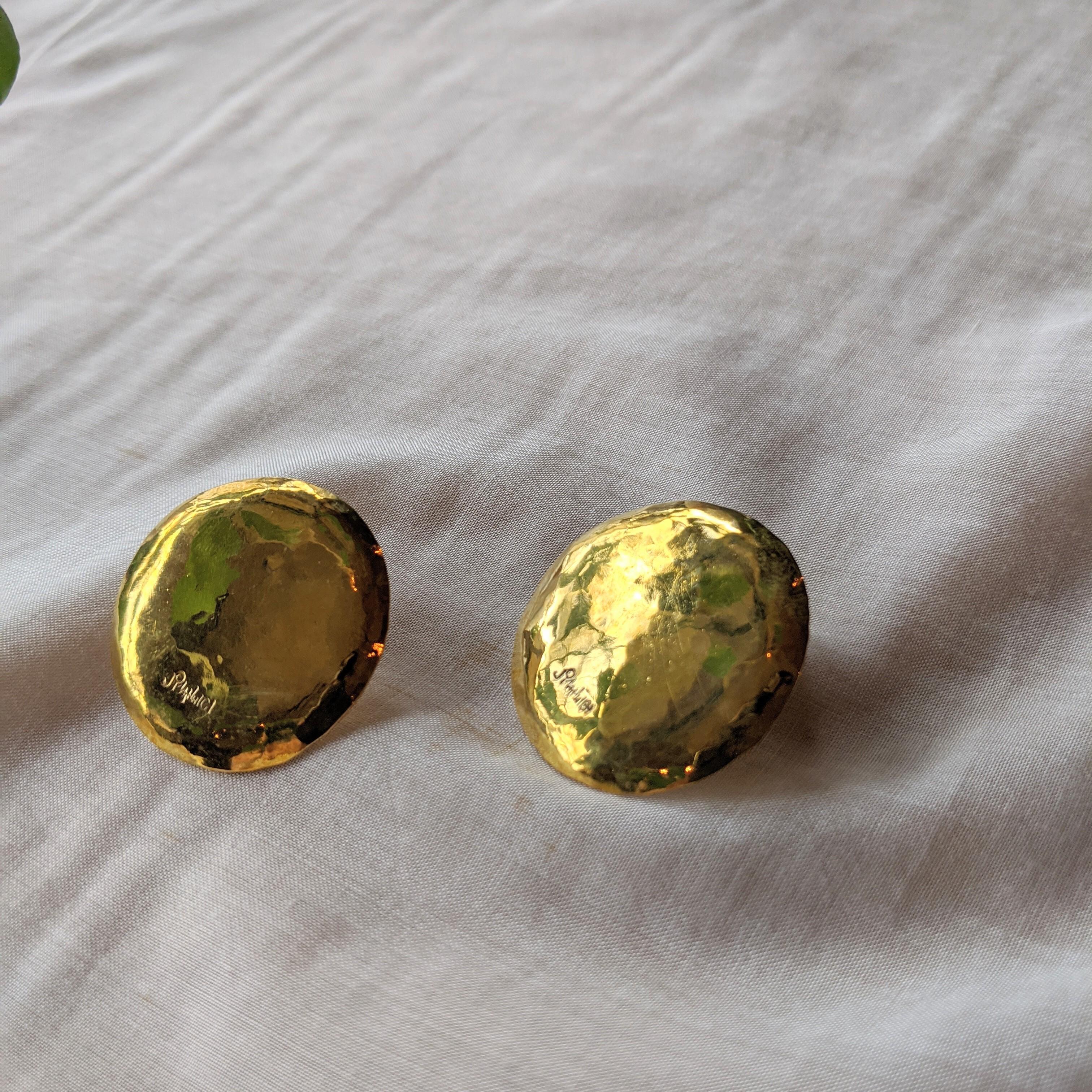 【 jomathwich 】brass pierce / P-15 真鍮ピアス 丸型