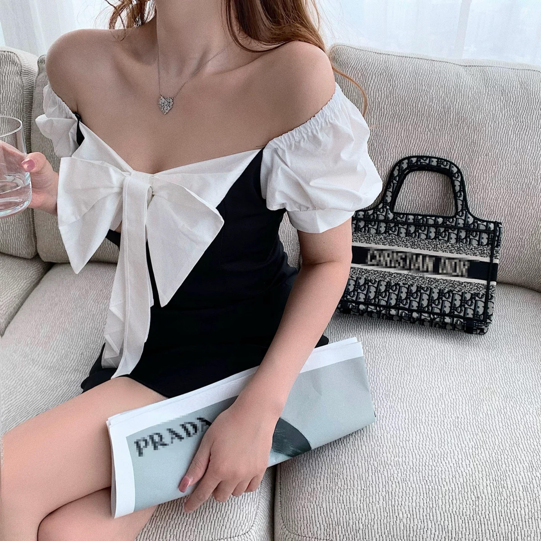 shirt material ribbon dress