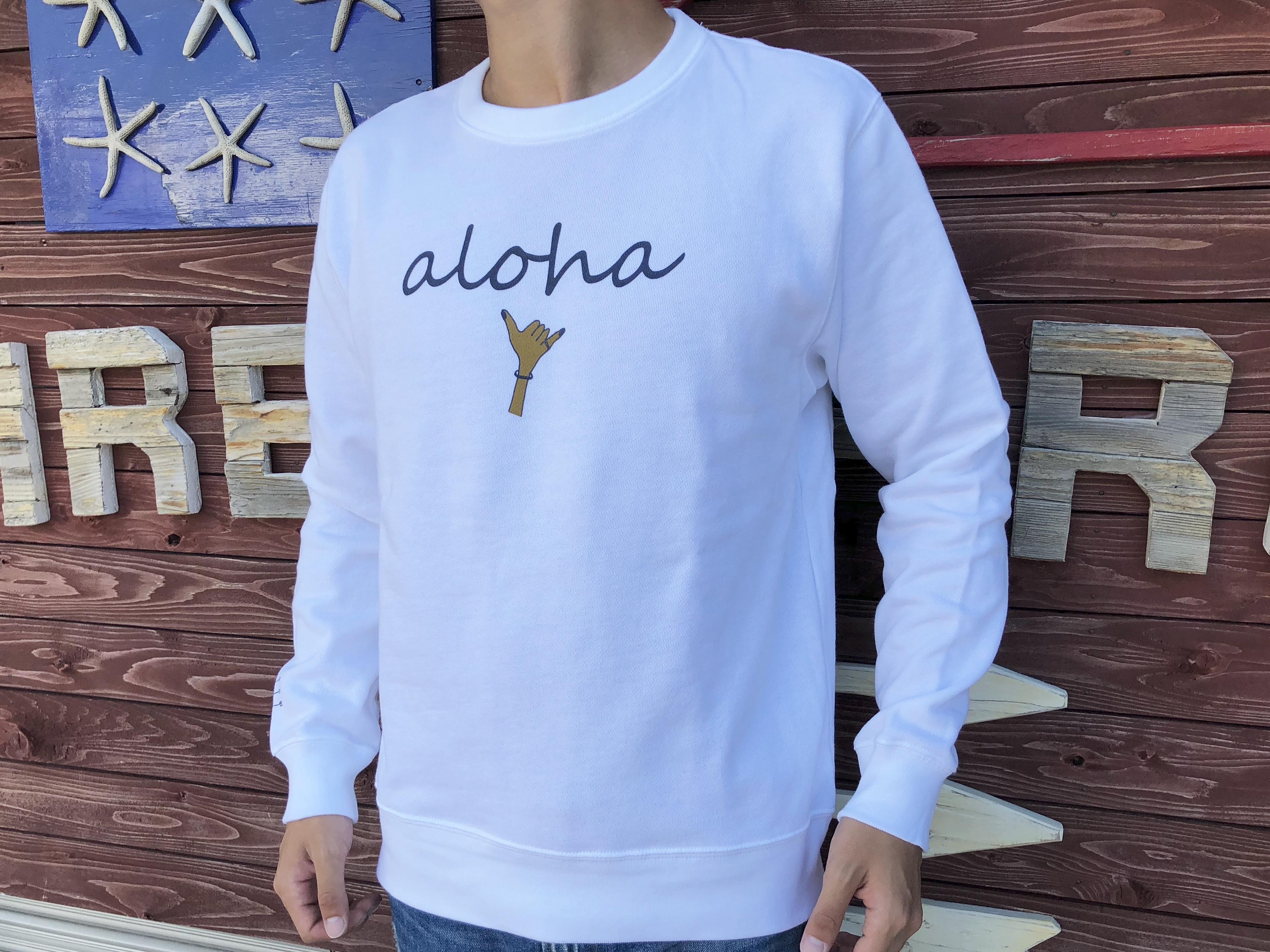 alohaサイン スウェット(日焼けハンド)