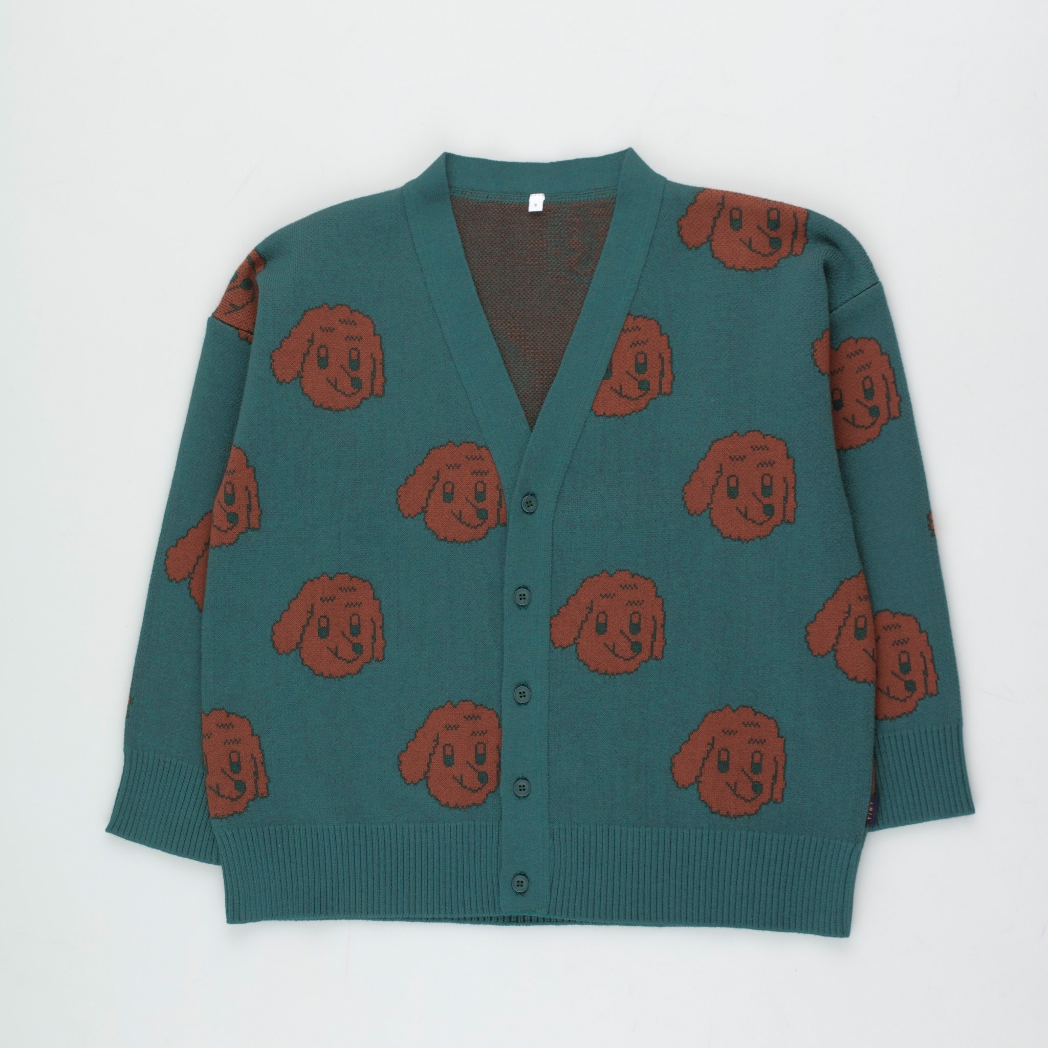 《TINYCOTTONS 2020AW》DOG CARDIGAN / Tricot × Woolcot / 2・4Y