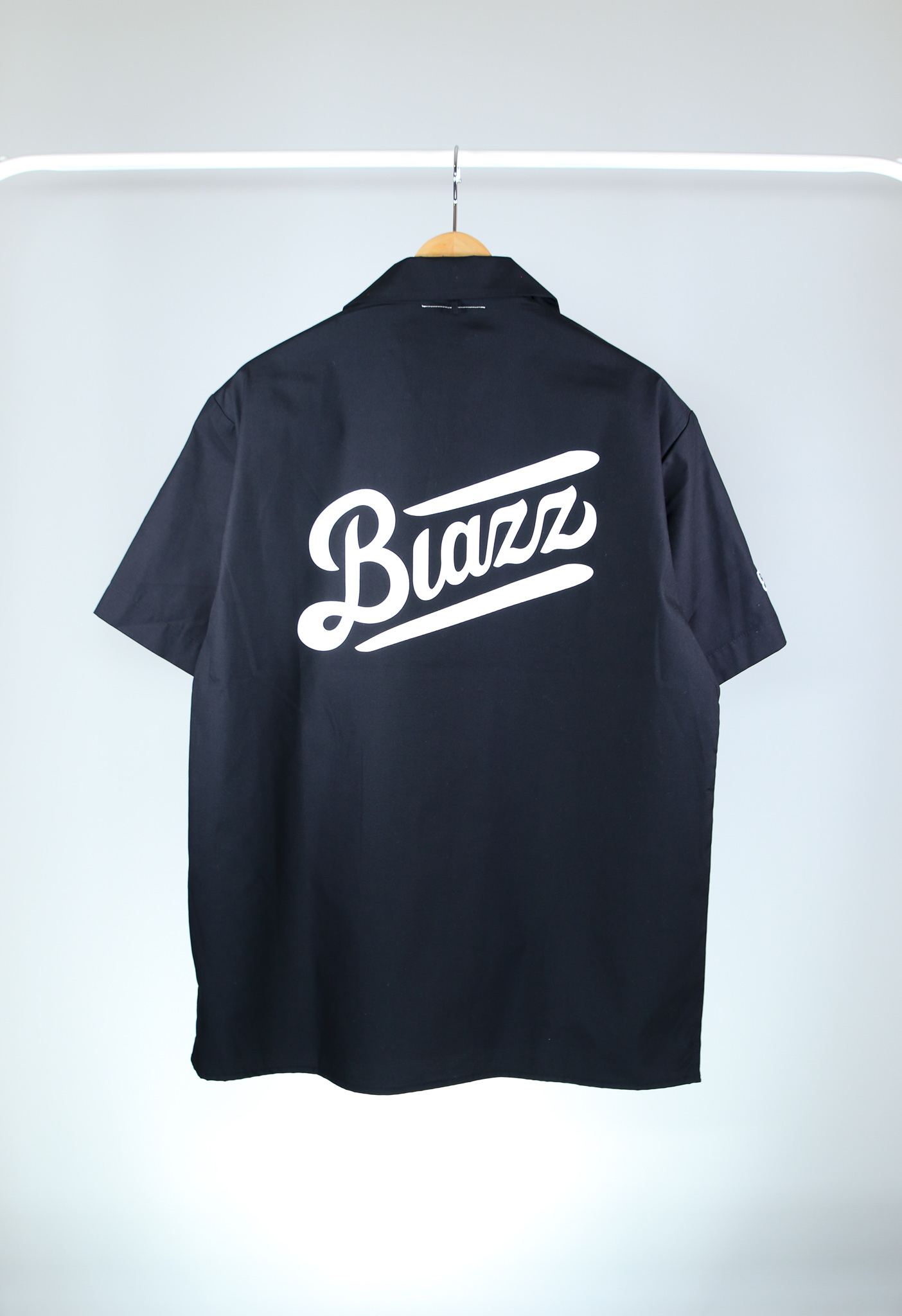 LOGO T/C OPEN SHIRT [BLACK]