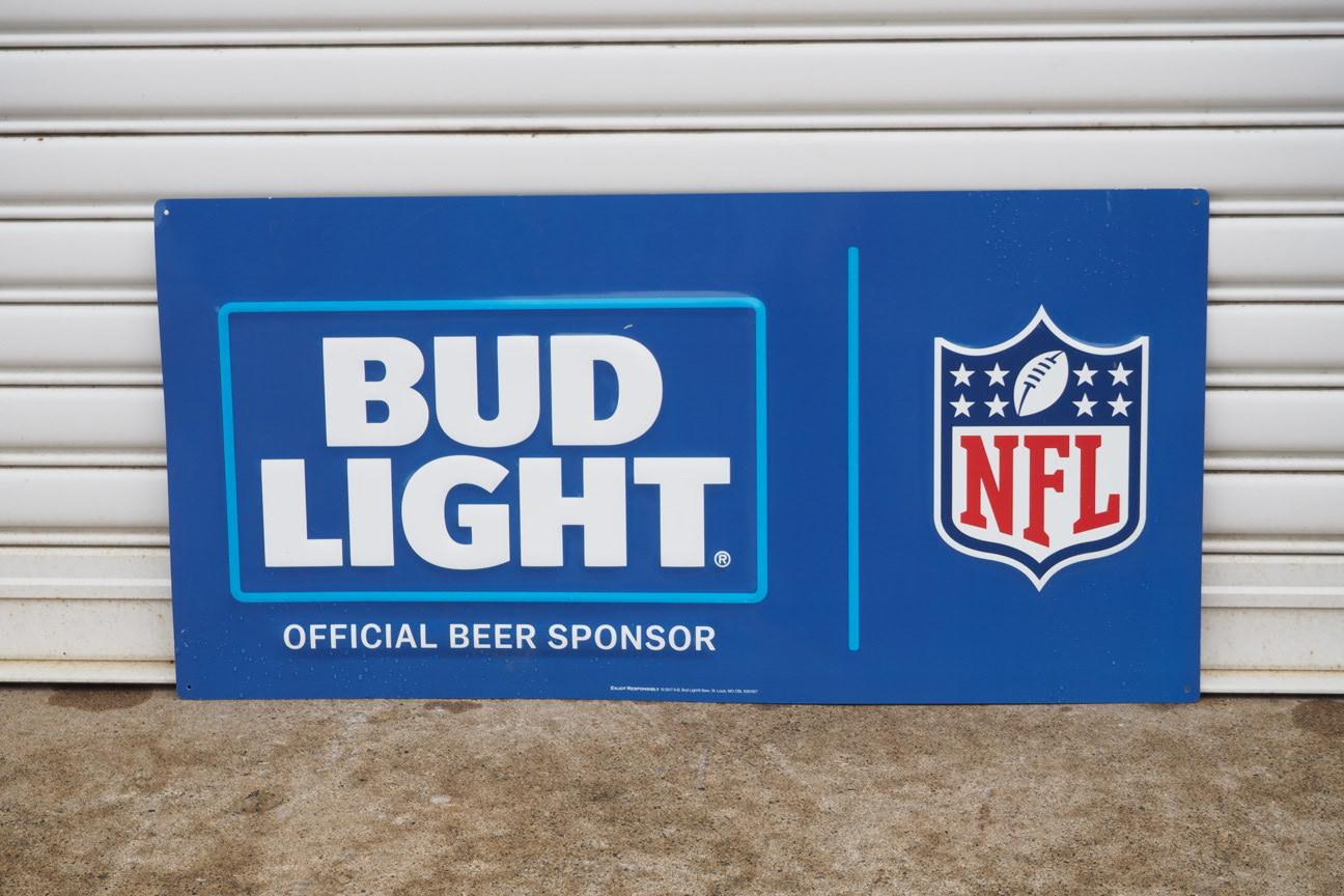 品番0853 NFL バドワイザーライト看板 ブルー