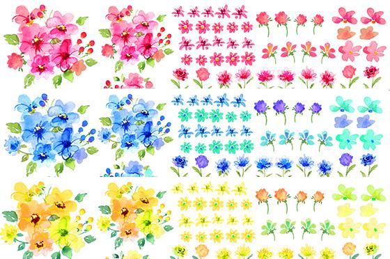 【割引】水彩ソフトフラワー3色セット A3サイズ(ポーセリンアート転写紙)