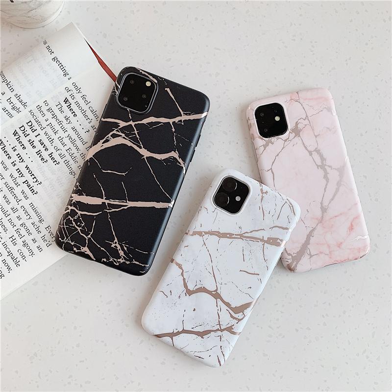 【お取り寄せ商品、送料無料】4タイプ 大理石調 シック マット ソフト iPhoneケース iPhone11