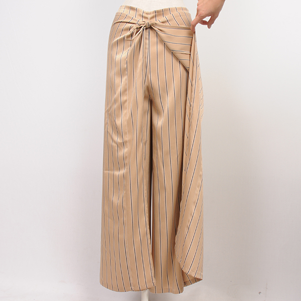 df17SM-08 STRIPE SATIN RELAX PANTS (beige)