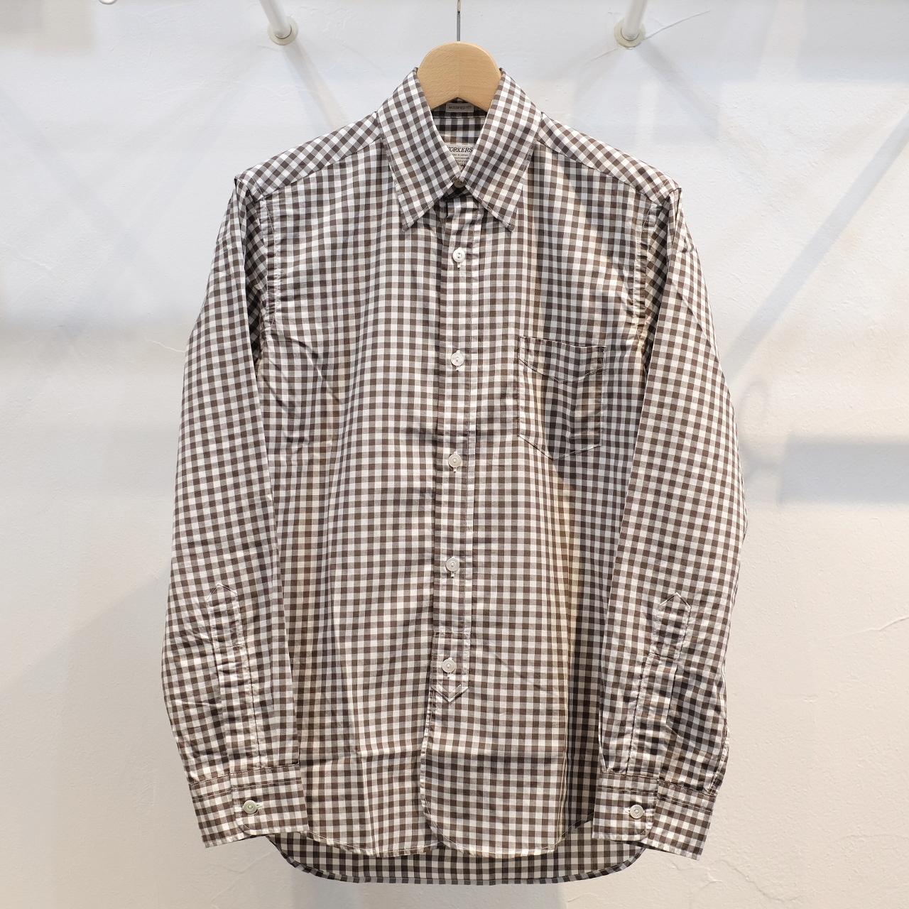 Workers(ワーカーズ) Lot20 ヒドゥンボタンダウンシャツ ギンガムポプリン