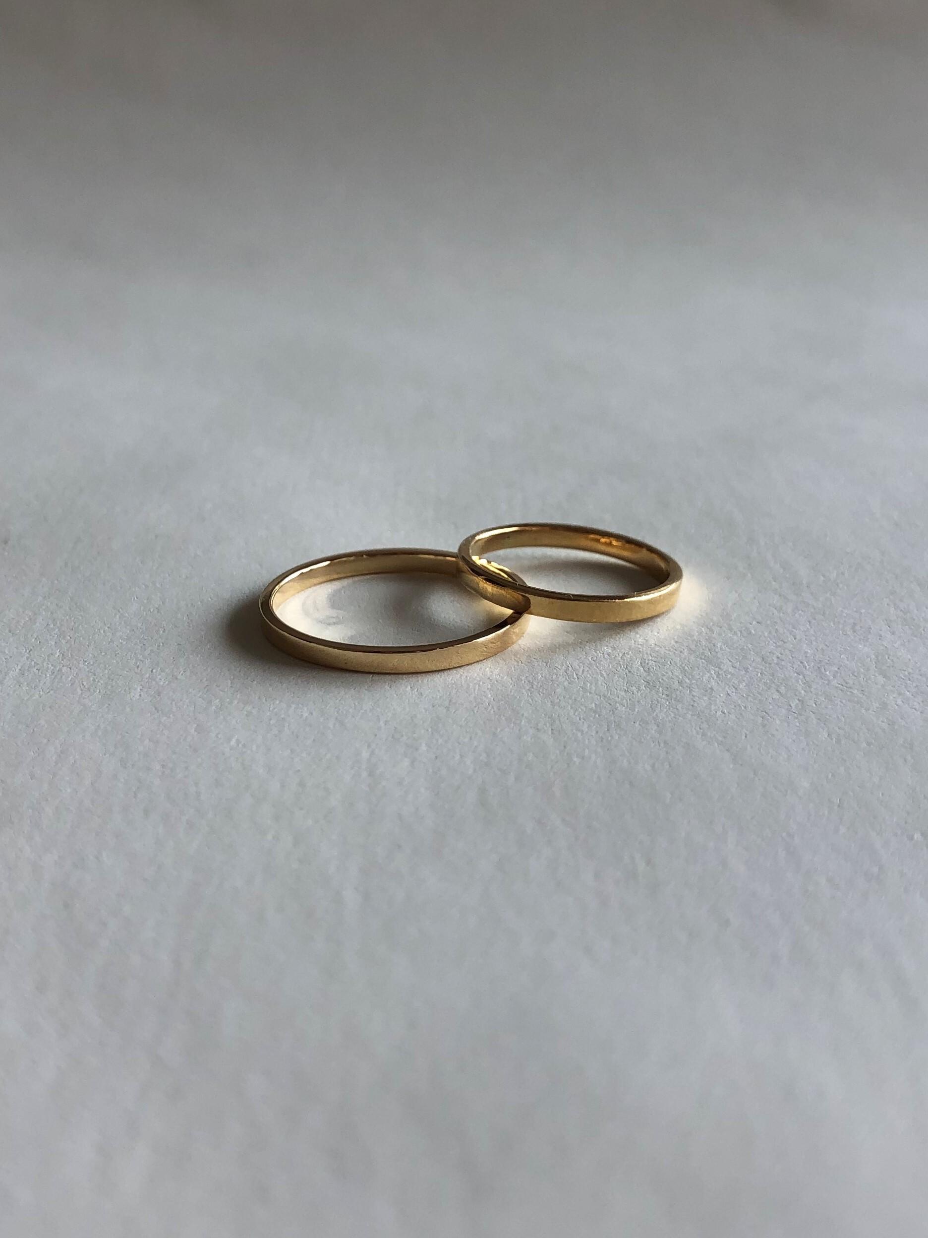 <受注生産>classic K18 ring (#1/3/5)