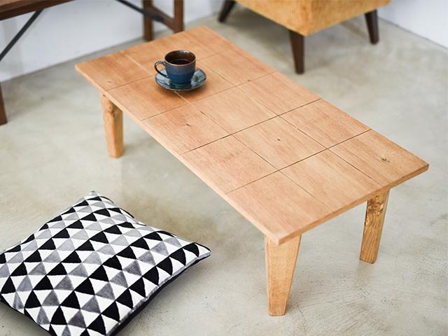 折りたたみテーブル【チェック柄】