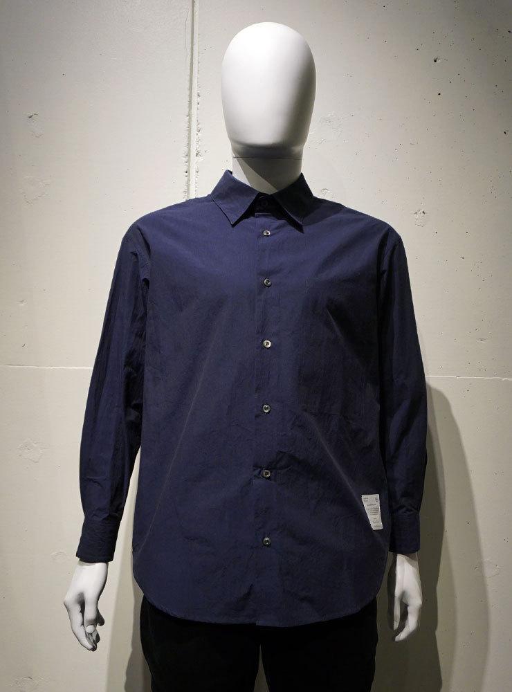 POETRY OF BIRDS Typewriter Cotton shirt ネイビー