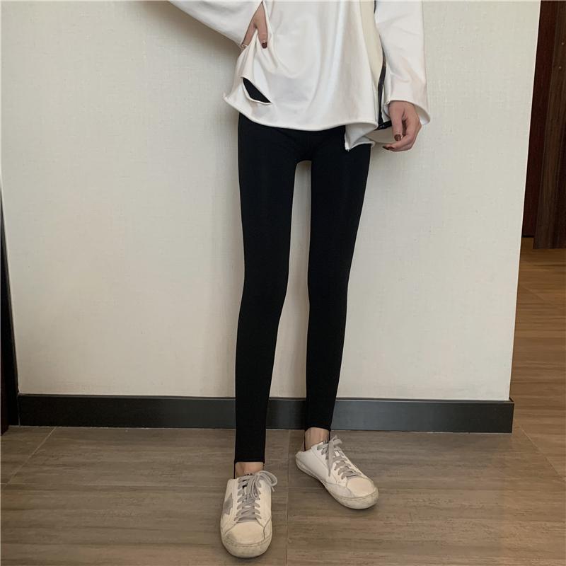 〈冬でもあったか〉ベルベットハイウエストレギンス【Velvet high waist leggings】