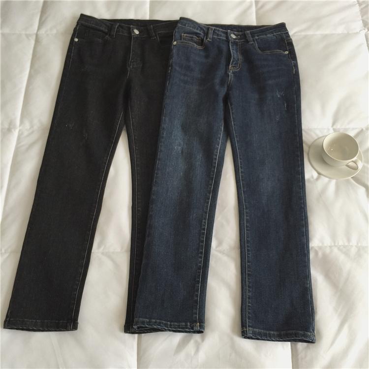 足やせダークカラーデニム【slim dark color denim pants】
