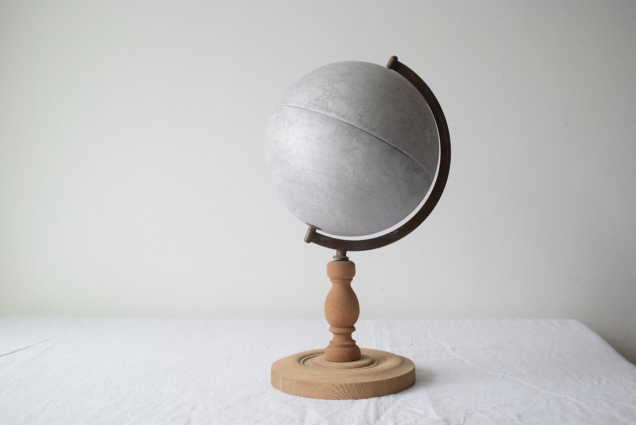 アルミの地球儀