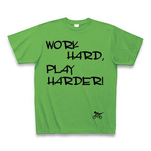 WORK HARD,PLAY HARDER Tシャツ ブライトグリーン