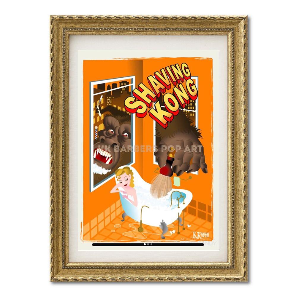KKバーバーズPOPアート Shaving Kong